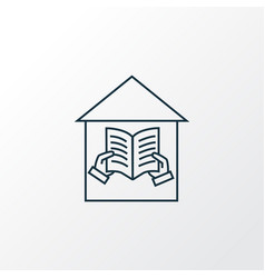 library icon line symbol premium quality isolated vector image