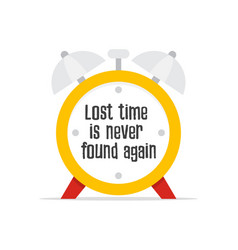 lost time is never found again vector image