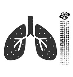 lungs icon with job bonus vector image