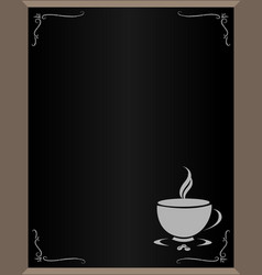 Menu with coffee cup with copy space for text vector