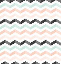 Mint peach black shadowed chevron pattern vector