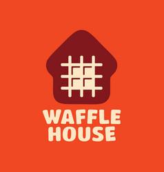 Modern professional logo waffle house vector