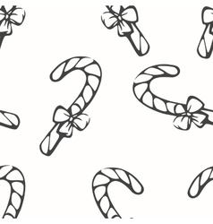 Monochrome seamless pattern with sketching candy vector