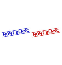 Mont blanc seals with grunge style and parallel vector