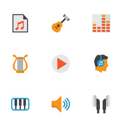 Multimedia flat icons set collection of vector