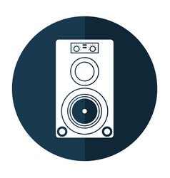 musical speaker audio stereo shadow vector image