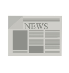 news paper information isolated icon vector image