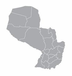 paraguay provinces map vector image