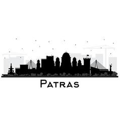 Patras greece city skyline silhouette with black vector