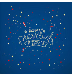 presidents day greeting card concept vector image