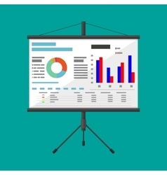Projector screen with business presentation vector
