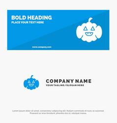Pumpkin american usa solid icon website banner vector