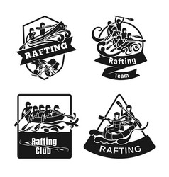 Rafting kayak icon set simple style vector