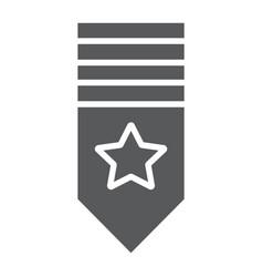 Rank shoulder glyph icon badge and army vector