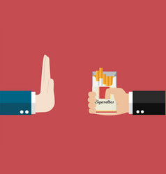 Reject cigarette offer vector