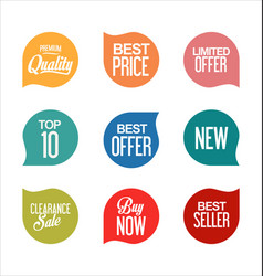 sale promo labels and stickers collection 3 vector image