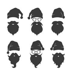 santa claus head silhouette image vector image
