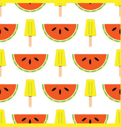 seamless summer theme background with vector image