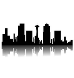 Seattle cityscape silhouette vector