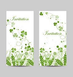 set vertical banners vector image