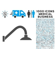 Tap Mixer Icon with 1000 Medical Business vector
