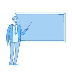 teacher at blackboard young man professor vector image