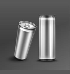 Template aluminium can for soda or beer vector