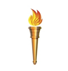 Torch icon - Hot flame power flaming vector image