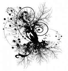 Tree roots design vector
