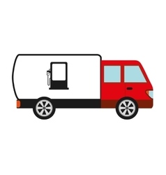 truck oil isolated icon design vector image