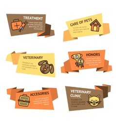 Veterinary Banner Set vector image
