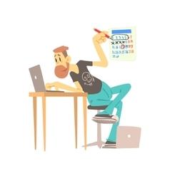 Web Designer At Work vector image
