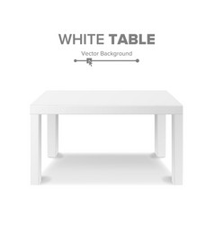 White table 3d stand template for object vector
