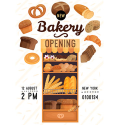 bakery opening poster vector image