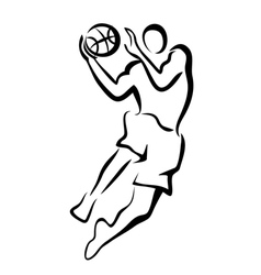 basketball player in jump vector image