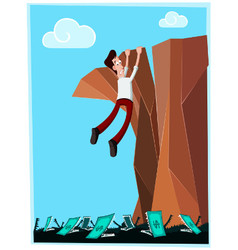 dangerous cliff vector image