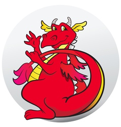 Dragon red vector image