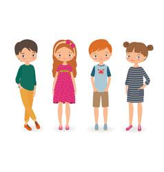 fashion stylish kids vector image vector image