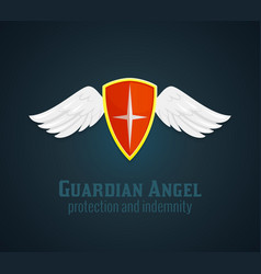 Shield And Wings Icon vector image