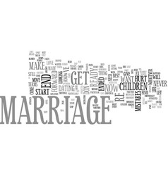 after marriage put your best foot forward after vector image vector image