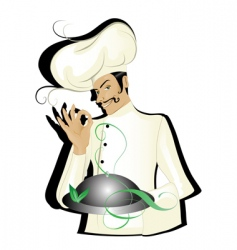 chef isolated vector image