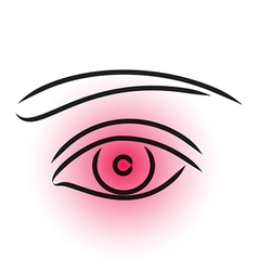 Eye pain vector image vector image