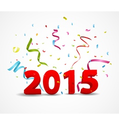 Happy new year celebration with confetti vector image