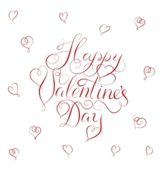 Happy Valentines Day - calligraphy vector image