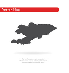 map kyrgyzstan isolated vector image