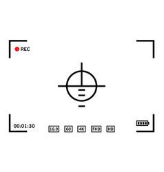 modern digital video camera focusing screen vector image