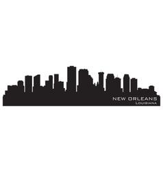 New Orleans Louisiana skyline vector image vector image