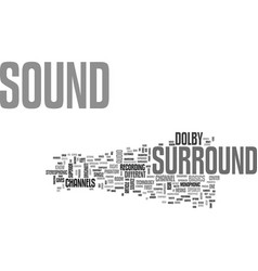 What is surround sound and why do you want it vector