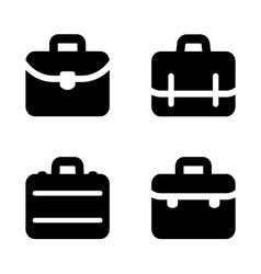 Briefcase icons vector image vector image