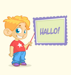 cartoon young blond boy character vector image